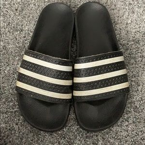 Men's Adidas black slides size 9